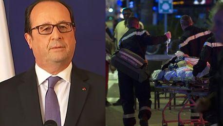 Francois Hollande 50 rannych jest między życiem a śmiercią