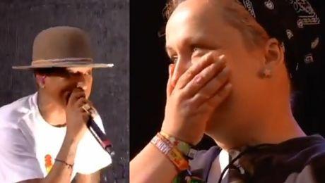 Pharrell zaprosił na scenę fankę z Polski