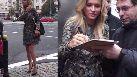 Joanna Krupa w sukience w motyle