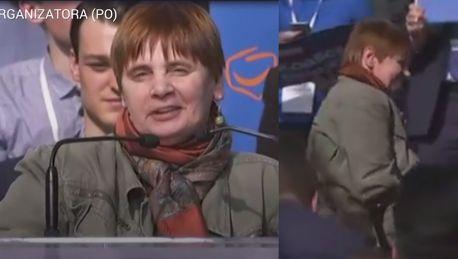 Janina Ochojska na scenie Rady Krajowej PO Takie miejsca będą dostępne dla osób niepełnosprawnych