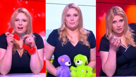 Romanowska w Pudelek Show gra seksbombę opiekunkę do dzieci i… pijaną prezenterkę