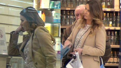 Hanna Lis kupuje krem i wino