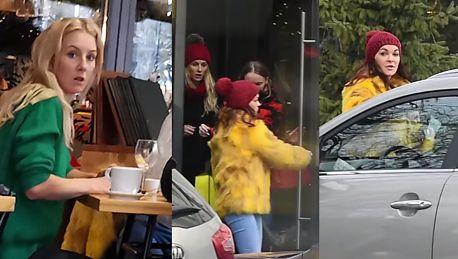 Radwańska w przerwie między treningami zajada lunch z siostrą