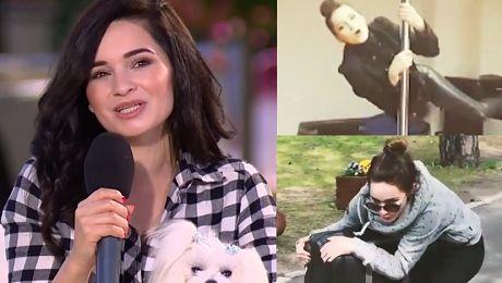 Lisowska z psem w DDTVN promuje nowy teledysk Jeżdżę na walizce można zobaczyć istne szaleństwo