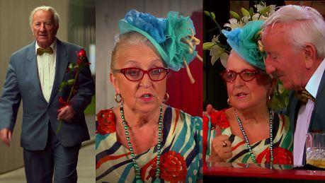 Flirt pary emerytów w Pierwszej Randce Słoneczko wybrali ciebie dla mnie Taką piękną kobietę