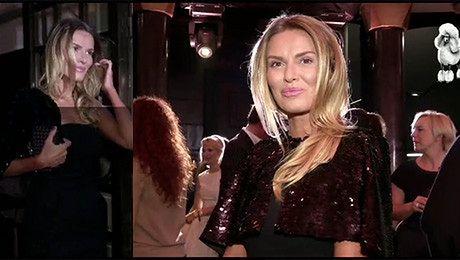 Hania Lis w czarnej sukni i bolerku