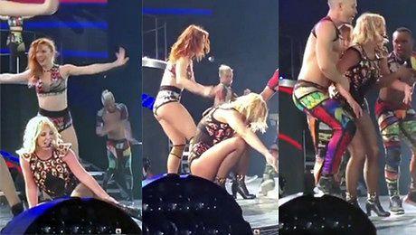 Britney Spears UPADA NA KONCERCIE Zobaczcie wideo