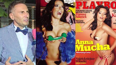Gojdź zachwyca się Muchą Jej sesja w Playboyu była najbardziej zachwycająca Umie pokazywać biust