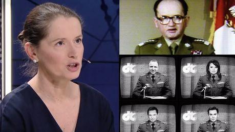 Jaruzelska zniesmaczona TVP Oglądam pasjami telewizję publiczną Propaganda jest wszędzie