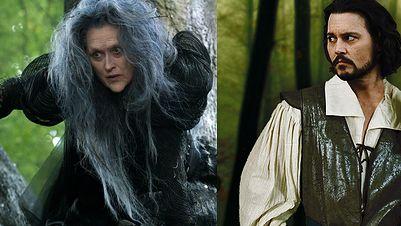 Meryl Streep jako wiedźma Johnny Depp w roli wilka