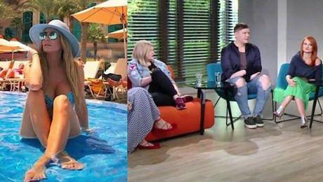 Majówka Rozenek w Dubaju już nie taka perfekcyjna Starała się zasłonić biust kolanem