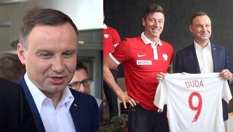Duda odwiedził reprezentację Polski Wierzę w sukces Chcę być na meczu finałowym