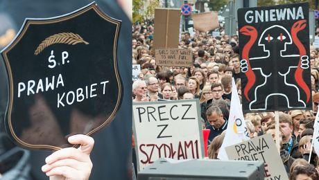 Tak wyglądał Czarny Protest Proponują barbarzyństwo ciemnogród i średniowiecze Pogonimy fanatyków