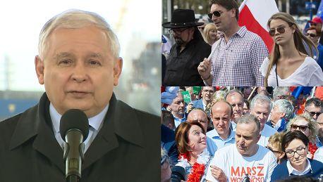 Kaczyński o uczestnikach Marszu Wolności Maszerują w przeciwnym kierunku niż sądzą W Polsce istnieje wolność