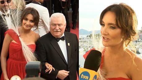Kulczyk nie odstępowała Wałęsy na krok w Cannes Możemy dumnie kroczyć po czerwonym dywanie