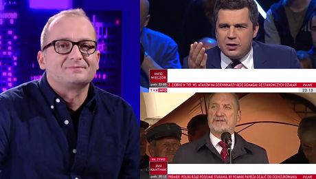 Robert Górski wymyśla paski dla TVP Info WIDEO