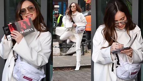 Marina cała na biało podpisuje płyty pod TVN em WIDEO