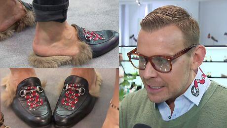 Woliński o papciach Gucci Wystaje mi futerko z butów zamiast słomy