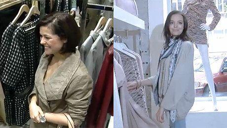 Celebrytki w pracy Pozują z ubraniami