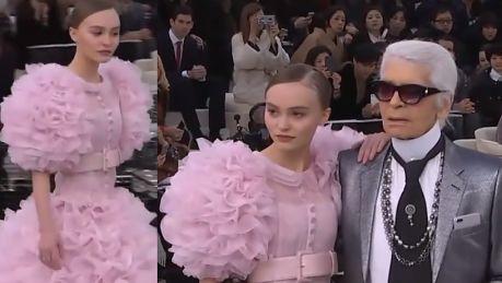 Lily Rose Depp Bella Hadid i Kendall Jenner idą w pokazie Chanel