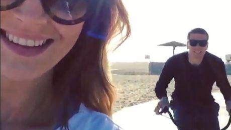 Marina i Szczesny na rowerach w LOS ANGELES