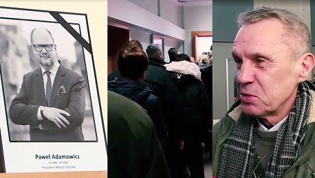 Tłum chętnych do księgi kondolencyjnej Pawła Adamowicza Jego serce zawsze będzie biło w Gdańsku