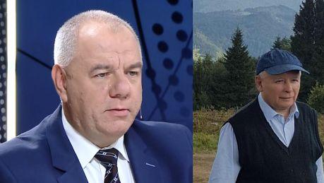 Sasin broni urlopu Kaczyńskiego Wspiera się cały czas na kulach ale zachowuje aktywność