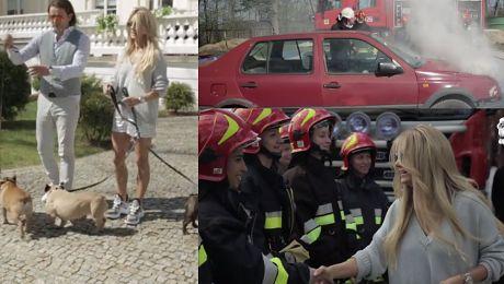 Ogień straż pożarna i buldożki Tak wyglądał dzień z Majdanami WIDEO