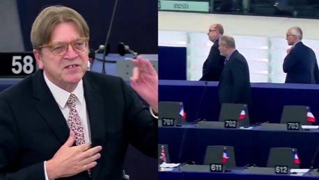 Debata o Polsce w Parlamencie Europejskim Rząd stracił zmysły Posłowie PiS wychodzą z sali ANTYPOLSKA ORGIA