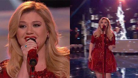 Ciężarna Kelly Clarkson śpiewa świąteczny singiel