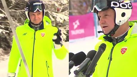 Prezydent Duda na stoku Zimą narty latem rower