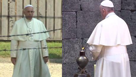 Papież Franciszek w Auschwitz Samotnie przeszedł przez bramę obozu