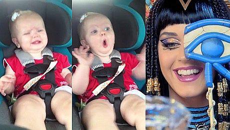 Dziecko przestało płakać przy piosence Katy Perry