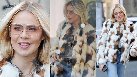 Sablewska w wielkim futrze… kupuje okulary przeciwsłoneczne