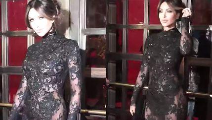 Pietrasińska BEZ BIELIZNY w koronkowej sukni