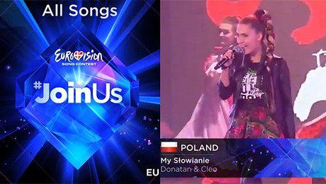 WSZYSTKIE PIOSENKI walczące w Eurowizji