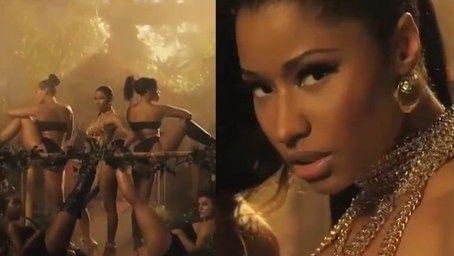 Nicki Minaj kusi w nowym teledysku