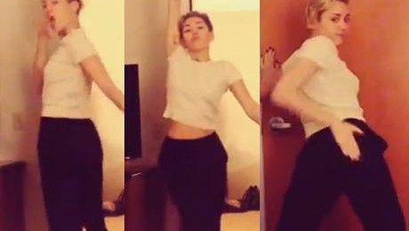 Miley znów trzęsie pośladkami