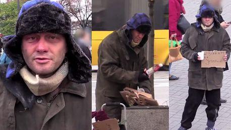 Kuźniar jako bezdomny Zbieram pieniędze na jedzenie Muszę nieźle śmierdzieć