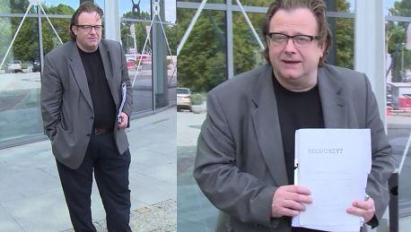 Odchudzony Olaf Lubaszenko wychodzi z TVP