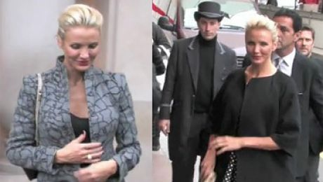 Stroje Cameron Diaz na Paris Fashion Week