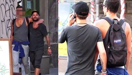 Piróg na spacerze ze swoim chłopakiem