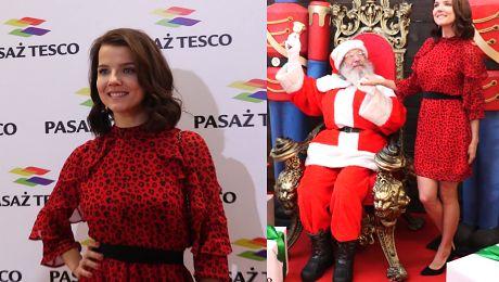 Jabłczyńska promuje supermarket nogami i sztucznym uśmiechem