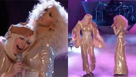 Lady Gaga i Christina Aguilera RAZEM NA SCENIE