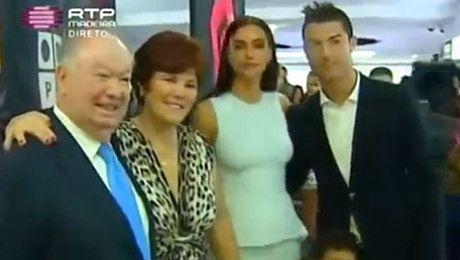 Ronaldo z narzeczoną w muzeum