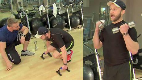 Szyc ćwiczy na siłowni w Dzień Dobry TVN Tyle haruję pięć razy w tygodniu