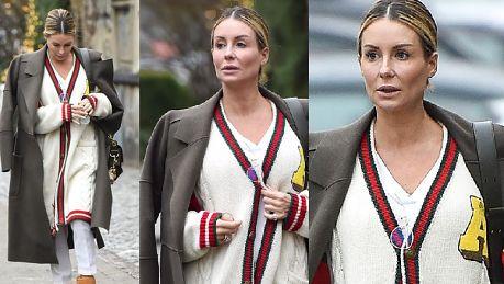 Smutna Rozenek w sweterku Gucci pomyka do mercedesa