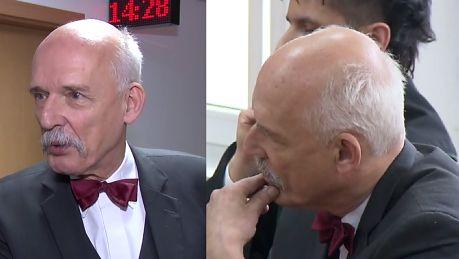 Korwin Mikke zapłaci 23 tysiące złotych za spoliczkowanie Boniego NIE ZGADZAM SIĘ On powinien mnie wyzwać na pojedynek