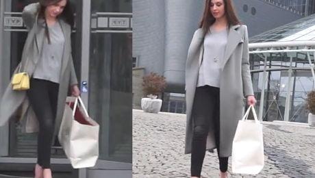Julia Kamińska w szpilkach wychodzi z Pytania na Śniadanie