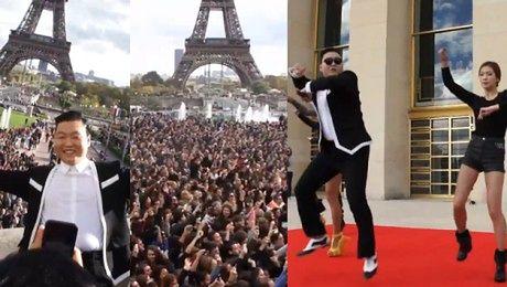 Gangnam Style pod wiążą Eiffla